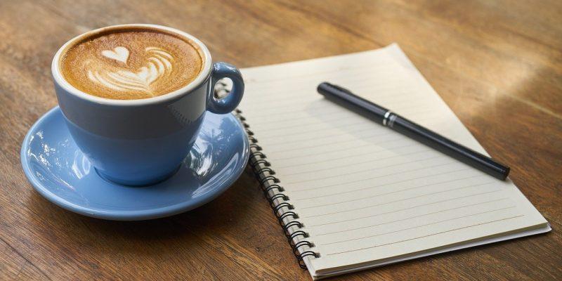 Koffie met kladblok
